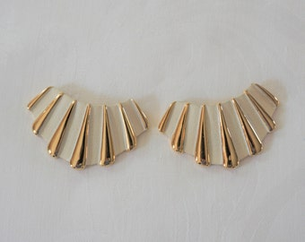 Vintage Bluette made in France Gold Tone  Shoe Clips