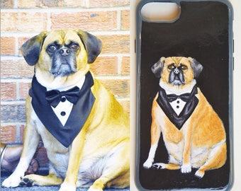 Custom Handpainted Pet Portrait for iPhone 6/6s/7