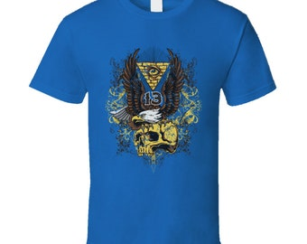 Eagle On Skull 13 T Shirt
