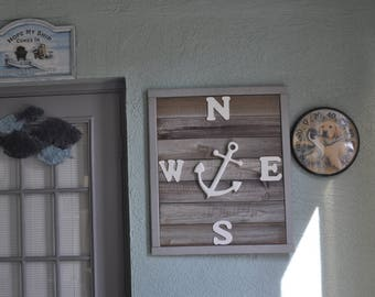 Rustic Beach/ Nautical Sign