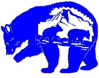 Bear, Baby Bear, Car decal, sticker, Mountains, Grizzly, Black Bear, Bear Cub, Alaska, Kodiak Bear, Wildlife, Vinyl decal, Yeti, Mama Bear