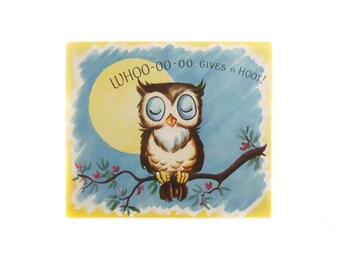 Vintage Owl Birthday Card