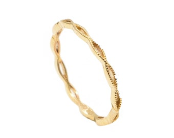 10k Yellow Gold MIDI Ring