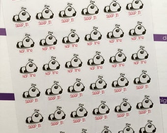"Life Planner ""Sleep in/Nap time"" panda stickers"