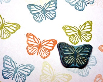Rubber Stamp, Butterfly, Hand Made, Wildlife, Insects, Design