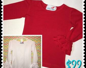 Toddler Girls Double Ruffle Sleeve Top