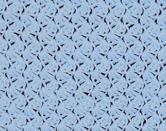 Crocheted baby blanket - Blue shells