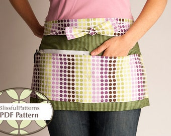 Vendor Apron PDF SEWING PATTERN - Instant Download - By BlissfulPatterns