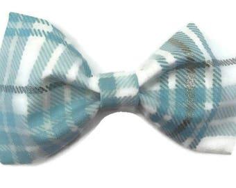 Plaid bow tie, Christmas bow tie, Hanukkah bow tie, holiday bow tie, festive bow tie, winter bow tie, winter plaid bow tie, clip on bow tie