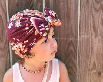 Turban bow hat