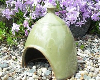 Mini Toad House , Fairy Garden Hut , Toad Abode , Garden Art , by Jon Whitney Pottery