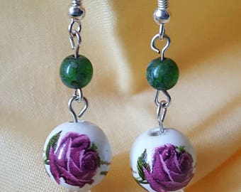 Sweet Dangle Rose Earrings