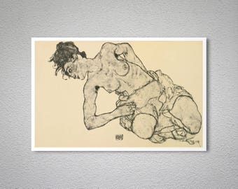 Zeichnungen by Egon Schiele  - Poster Paper, Sticker or Canvas Print / Gift Idea
