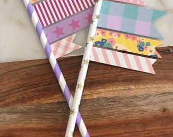 Cake Flags / Cake Topper / Cake Decoration / Birthday Cake