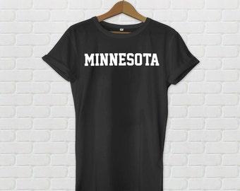 Minnesota Varsity Style T-Shirt - Black