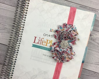 Coral Flower Planner Band: Multi-Color, Flower Elastic, Notebook and Planner Closure, Perfect for EC, Mambi, Kikki K, Filofax, & more!