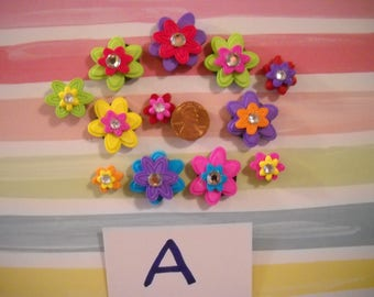 Groovy Neon Flower Magnets - Set A