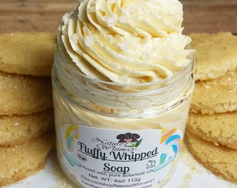 Sugar Cookie Fluffy Soap, Fluffy whipped Soap, Soap in a jar, Fall product, cookie scented, Bestseller, winter wedding favors, foodie gift