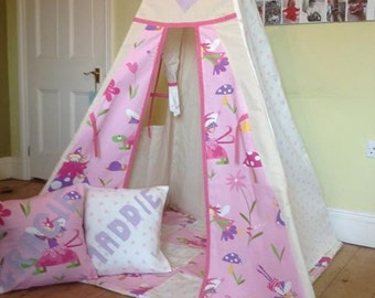 Fairy teepee with matching floormat