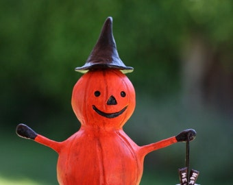 Halloween Pumpkin Boy Figurine