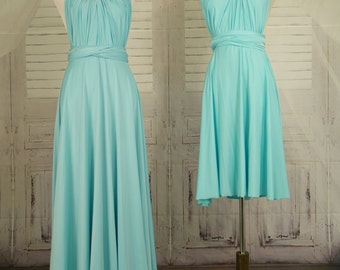 Aqua Infinity Dress Convertible Formal,wrap dress ,bridesmaid dress,party dress Evening dress B32#C32#