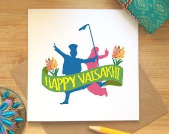 Happy Vaisakhi Card, Baisakhi Celebrations, Sikh Festival, Punjabi, Vaisakhi Greetings, Solar New Year Celebrations, Spring Harvest