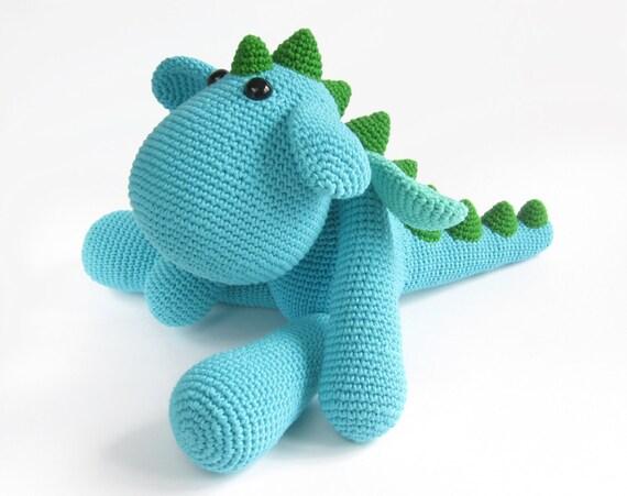 Amigurumi Dinosaur Free Pattern : Pattern: dragon crochet pattern dinosaur stuffed animal