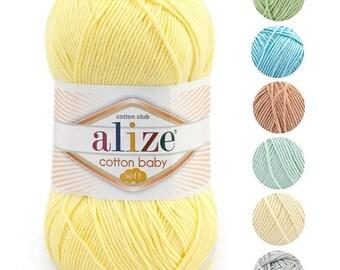 Yarn Alize Cotton baby soft yarn baby yarn children's yarn cotton yarn cotton thread childly yarn crochet cotton natural cotton natural yarn