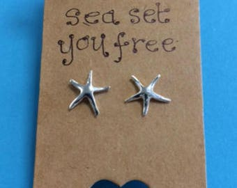 Let the sea set you free - starfish studs