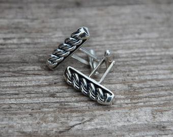 Silver Latvian Namejs ring Cuff links