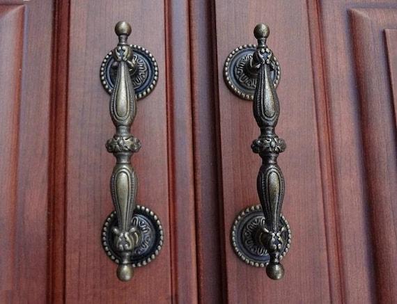 Dresser Pulls Drawer Pull Handles Antique Bronze / Cabinet Handles Pulls  Knobs Door Handle Metal /Cupboard Vintage Furniture Hardware 96 128 From ...