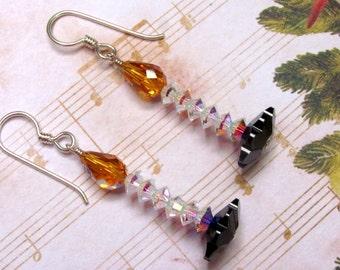 Christmas Candle Earrings, Candle Earrings, Christmas Earrings, Holiday Earrings, Swarovski Earrings, Christmas Jewelry, Holiday Jewelry