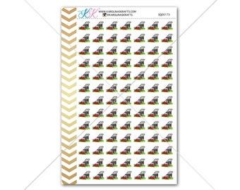 Mow Lawn Stickers for planner, calendar! Functional planner stickers chore sticker functional sticker gardening sticker #SQ00173