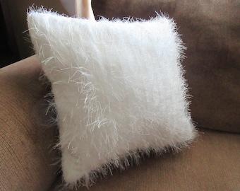 Pillow White Fringe