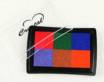 6 Colors Water-Based Ink Pad Ver. 01 (3 x 2.2in)