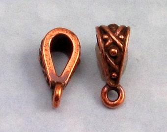 Antique Copper Legend Bail, TierraCast, 2 Pc. TC4