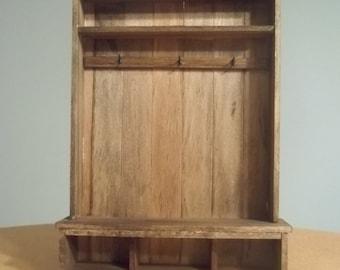 Dollhouse Miniature-Solid Wood Hall Tree-Walnut