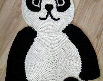 Panda Crochet Rug, Carpet, Baby Floor Mat