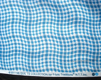 SALE Sugar Creek DS Quilts Denyse Schmidt Wavy Check cornflower blue FQ or more