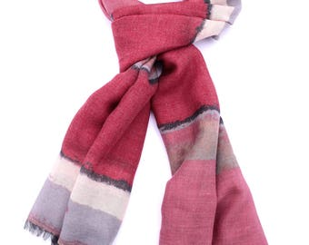 Abstract Print Scarf ⊿ Casual Scarf ⊿ Extra long scarf ⊿ Abstract pink scarf ⊿ Christmas Gift ⊿ Wife Gift ⊿ Birthday Gift ⊿