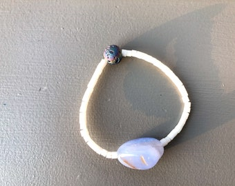 Chalcedony Natural Stone Bracelet