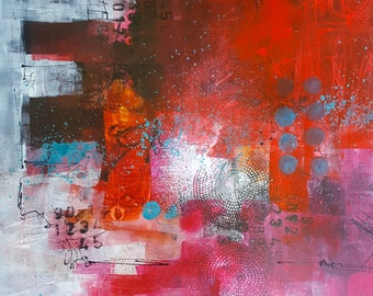 Grunge Ink Online Workshop E-Course - Graffiti-like acrylic and ink painting workshop, Grunge Ink Abstract Art on Yupo by Jodi Ohl