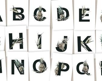 Alphabet Card - Ivory & Pineapples