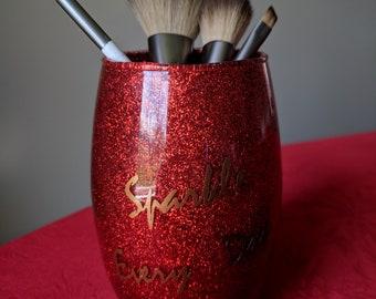 make up brush holder/makeup/make up brush cup/glitter