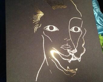 Werewolf Gold Art Print