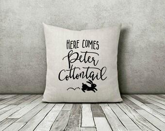 Peter Cottontail Pillow, Peter Cottontail, Peter Cotton Tail, Easter Pillow, Easter Gifts,Easter Decorations,Spring Pillow,Easter Decor