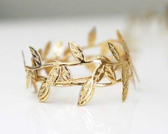 Metallic Gold Leaf Ribbon/Garland Vine