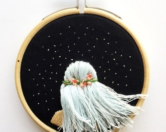 Flowing Hair Beneath The Stars