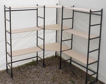 Corner Shelves -Craft show display - Portable shelves - art show display - tradeshow booth display shelves