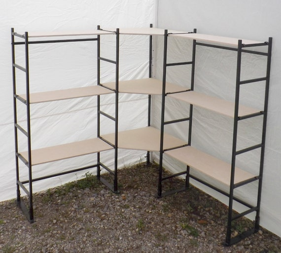 Corner shelves craft show display portable shelves art for Used craft fair tents